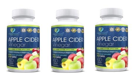BioParamount Apple Cider Vinegar Veggie Capsules (1, 2, or 3-Pack)