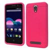 Insten Rugged Silicone Rubber Case For Zte Obsidian Hot Pink