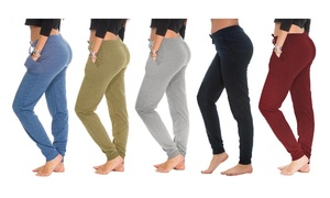 Coco Limon Women's Jogger Pants in Plus Sizes (5-Pack)