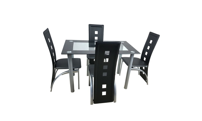 Up To 24 Off On Tempered Glass Dining Table S Groupon Goods