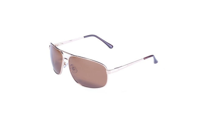 BluWater Gold Frame w/ Spring Hinge and Brown Polarized Lens