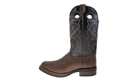 ReyWelt Men's Mocha Square Toe Western Boot