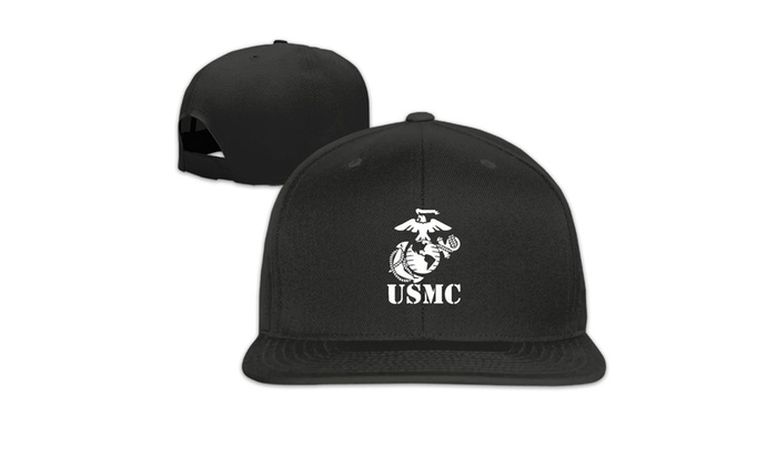 94b1e90d1e8c9 USMC Marine Corps Snapback Hats For Men Cool Flat Bill Hats Fitted Hats For  Men
