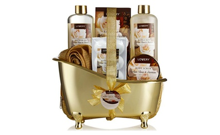 Spa Gift Basket, Luxury 13 Piece Bath & Body Set For Men & Women