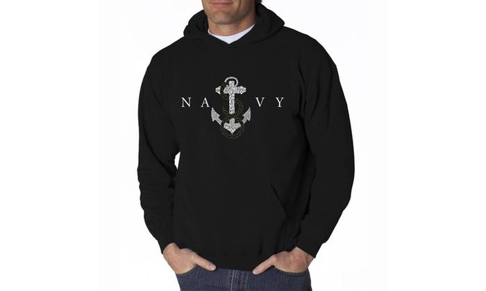 Men's Hooded Sweatshirt - LYRICS TO ANCHORS AWEIGH