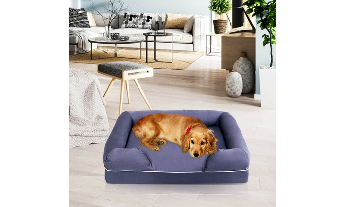 Outstanding Dog Sofa Pet Bed Lounge Solid Memory Foam Comfortable Large Gray Short Links Chair Design For Home Short Linksinfo