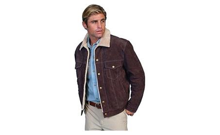 Scully 113-86-M Mens Leather Boar Suede Jean Jacket, Chocolate - Mediu 648dd6b0-7781-4d97-9593-8293049d9375