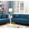 Mosjoen 2 Pieces Sofa Set in Fabric with Free Accent Pillows