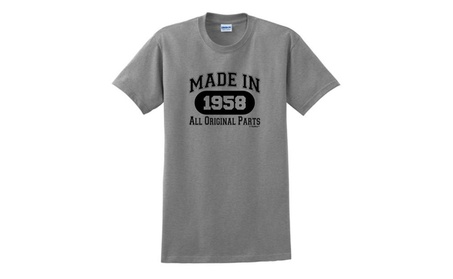 60th Birthday Gifts Made 1958 All Original Parts T-Shirt photo