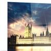 Parliament at River Thames Cityscape Metal Wall Art 28x12
