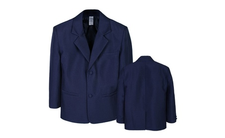 Boy Infant Kid Teen Formal Wedding Party Blazer Navy suit Jacket S-20