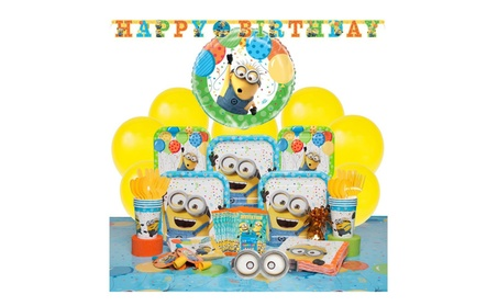 Deluxe Despicable Me Minions Party Supplies Kit for 8 Guests 2b2074ab-dee3-4490-b3a2-af7e4d385926