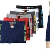 Mens Stars & Stripes Seamless Boxer Brief 6 Piece Color Variety Set