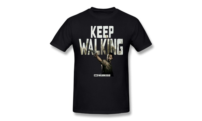 3T-tshirts Men's The Walking Dead T Shirt Rick Keep Walking T-shirts