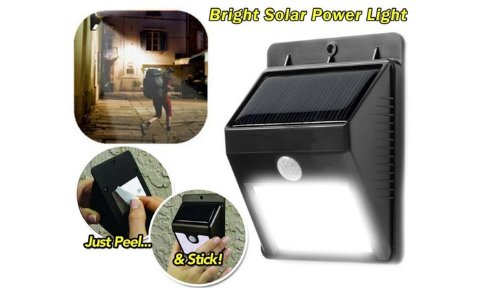 LED Solar Powered Motion Activated Indoor Outdoor Security Night Lamp Light