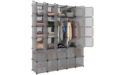 Space-Saving Multifunction Sturdy Plastic Storage Organizer Shelves Bookshelf