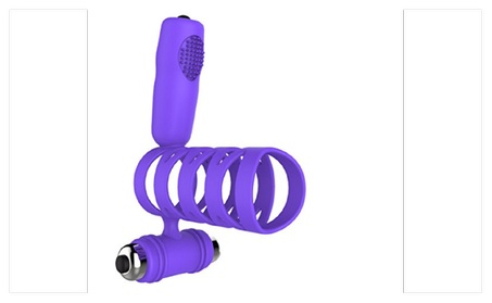 Powerful Double Bullet Vibrator Penis C-Ring Vagina Stimulator - Purple b82a8e53-c607-4bd9-aeac-e84f1dbd0107