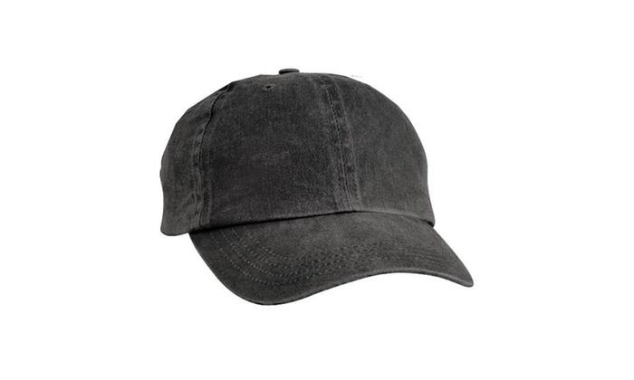 dd5d169c41607 Port & Company CP84 Pigment-Dyed Cap Black - One Size Black Label Cotton  original.jpg