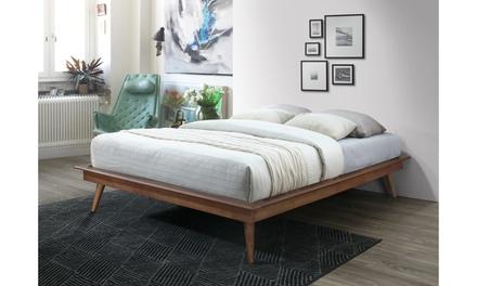 Prince Mid-century Modern Style Solid Wood Platform Bed Frame or Platform Bed