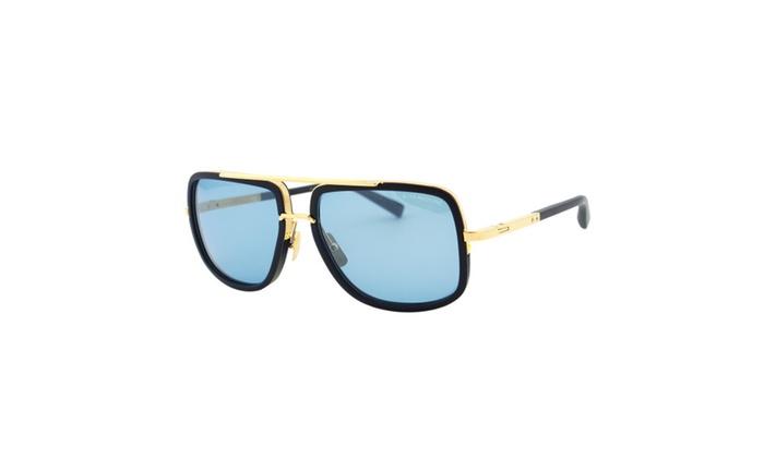 118ec26d152 New Dita Mach One DRX 2030 Navy 18K Gold Titanium Aviator Sunglasses ...