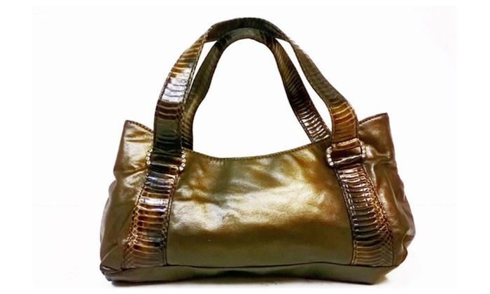 Nine West Las Brown Leather Handbag
