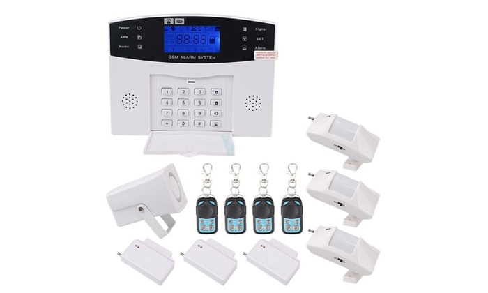 Wireless GSM SMS Home Security Burglar Home Office Alarm System