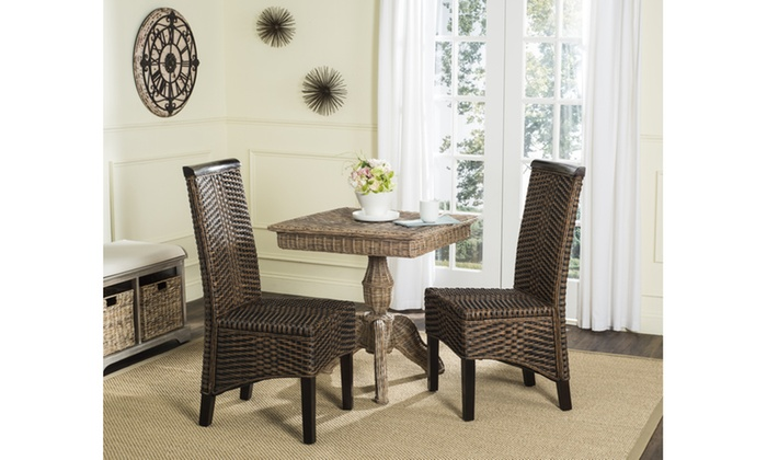 53% Off On Safavieh Wicker Dining Chairs | LivingSocial Shop