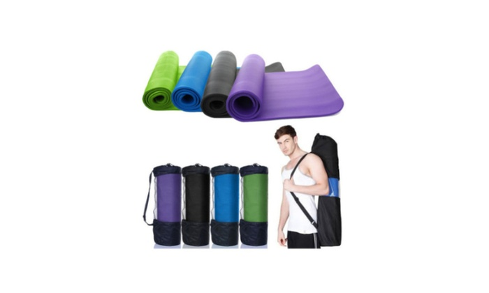 Exercise Fitness Durable Inch Yoga Mat 10mm Thick Non-slip Pad