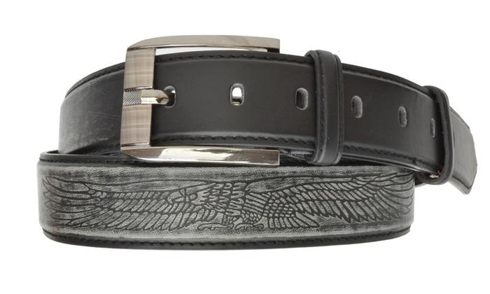 AFONiE Men's Jeans Leather Belt Buckle