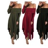 Womens Maternity Grace Off The Shoulder Irregular Shoot Dress