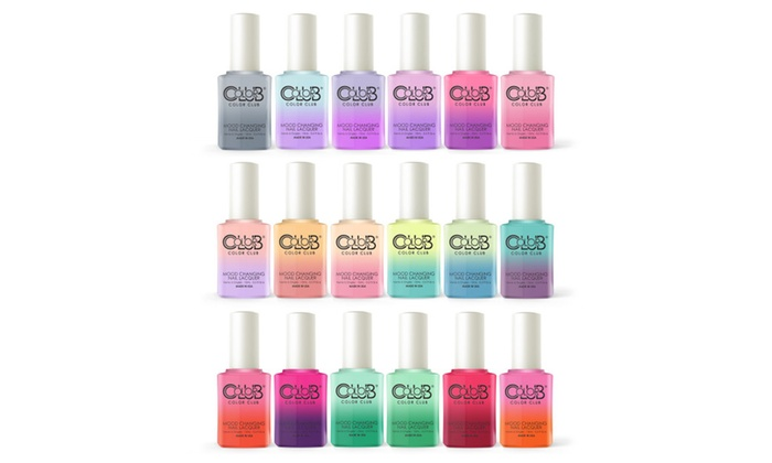 Color Club In The Mood Pastels Collection Mood Changing Nail Lacquer