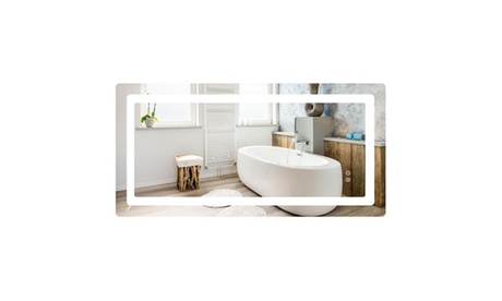 Intelligent Wall Mounted LED Bathroom Mirror Vanity Makeup Mirror W/Touch Button