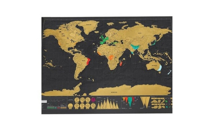 Scratch off art world map poster decor large deluxe edition travel gumiabroncs Images