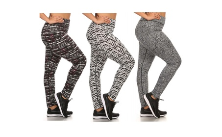 Womens Plus Size Astec Printed Activewear Leggings b4faf2ea-a061-4919-8623-bbcdc296d32e