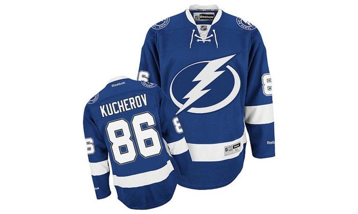 Tampa Bay Lightning  86 Nikita Kucherov Reebok Premier Jersey  ddb9084ef