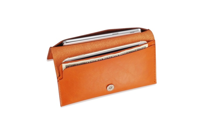 Large Oversized Leather Wallet Case For Phone Or Cards