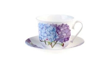 Roy Kirkham Breakfast Cup/saucer - Hydrangea Set Of 2 8600a96c-293e-4206-ae2a-3006893f8f1d