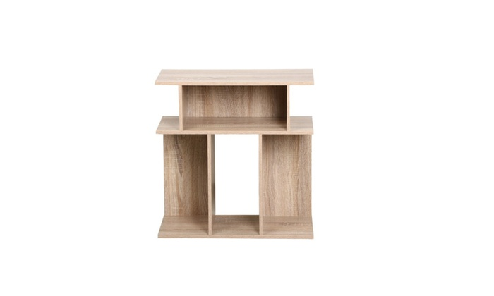 New Rustice Accent Side Table Book Storage ...