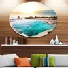 Crystal Clear Lake in Yellowstone' Oversized Landscape Metal Circle Wall Art