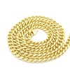 Thick Chain Gold Plated 12 mm Wide Classic Curb Cuban Chain Necklace