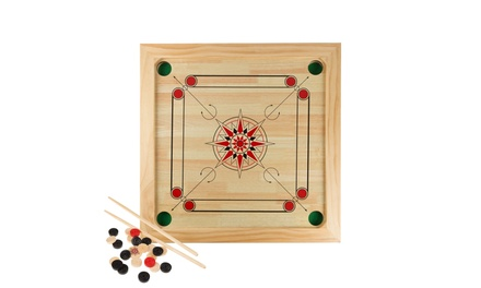 Carrom Board Game Classic Strike and Pocket Table Game for Adults and Kids
