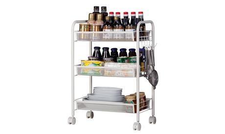 Rolling Metal Utility Cart Organization Cart with Hook