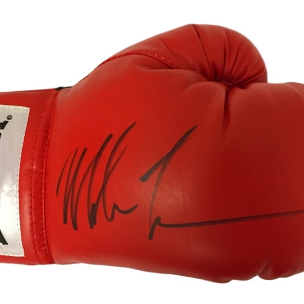 fe15c9ad803 Autographed Signed Mike Tyson Red Everlast Boxing Glove JSA COA ...
