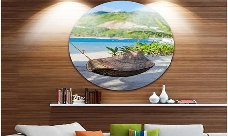 Philippines Tropical Paradise' Landscape Photo Circle Metal Wall Art ca6837f2-ff28-4750-a5d6-25a4ebd9466a