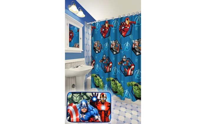 Marvel Shower Curtain, Bath Mat & Towel Sets | Groupon