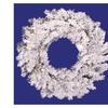 "24"" Heavily Flocked Alaskan Pine Artificial Christmas Wreath"