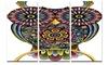 Funny Owl Animal Digital Art Metal Wall Art 36x28 3 Panels