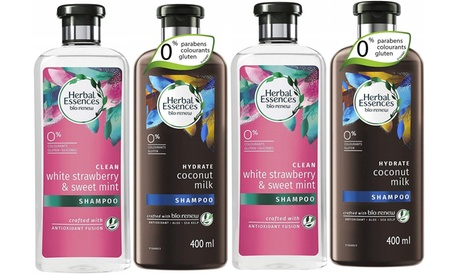 4 Pack Herbal Essence Shampoo and Condiotioner Set 400 ml