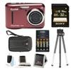 Kodak PIXPRO FZ43 (Red) w/ Sony 32GB Class 10 70MB/s SDHC Bundle