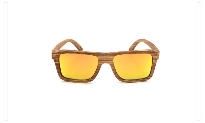 Q4 Pure natural Handmade wooden Sunglasses Glasses With Polarized Lens